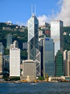 Bank of China sztandarowy symbol Feng Shui w biznesie. Hong Kong