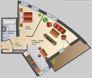 Mieszkanie ma wiele odjętych stref zgodnie z Feng Shui